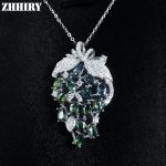 Natural Fancy Sapphire Gemstone Pendant <b>Necklace</b> Woman Genuine Solid 925 Sterling <b>Silver</b> Precious Stone