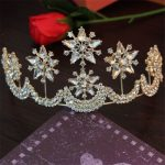 Luxury Crystal Gold Silver Red Crown Bridal Hair <b>Jewelry</b> Stars Tiaras Flowers Crowns Pageant Dress <b>Wedding</b> Hair Accessories NEW