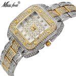 MISSFOX Miss Fox Quartz Women Watches <b>Silver</b> <b>Bracelet</b> Ladies Watches Top Brand Luxury Wrist Watches For Women Casual Relogios