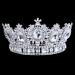Fantastic Wedding Bridal Tiara Miss Beauty Pageant Crown Clear Rhinestones Crystals Large Headband Hair <b>Jewelry</b>