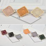 Diy <b>jewelry</b> making 30pcs/lot 30mm color knitting flowers core decoration <b>copper</b> square shape handmade fashion pendants charms