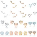TIFF 100% 925 <b>Sterling</b> <b>Silver</b> Circle Earring Fit DIY Original <b>Jewelry</b> Mini Smile Earrings Clear CZ Birthday Gift
