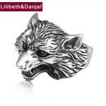 Adjustable Ring 100% Real 925 Sterling <b>Silver</b> <b>Jewelry</b> men women Vintage Animal Wolf head LOVE Fashion Opening Ring 2018 Brand R5