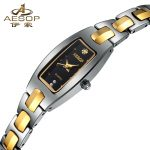 AESOP Tungsten Steel Ladies Watch Luxury Brand Waterproof Dress Crystal Qaurtz Woman Watches Gold <b>Silver</b> <b>Bracelet</b> Montre Femme