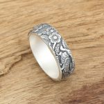 Factory wholesale silver <b>jewelry</b> <b>handmade</b> fine silver silver S990 personality of male and female magpie ring ring