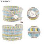 KELITCH strand bracelet <b>Jewelry</b> Bracelets Seed Beads Bracelets <b>Handmade</b> Strand Beach Bracelets with LOGO Customized
