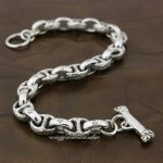 Solid 925 Sterling <b>Silver</b> Handmade Mens Biker Rocker Punk <b>Bracelet</b> 8H011 Free Shipping