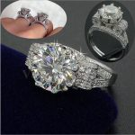Vecalon Luxury <b>Jewelry</b> Women Men ring 9mm 3ct AAAAA zircon Cz 925 Sterling Silver Couple Party Engagement <b>wedding</b> Band ring Gift