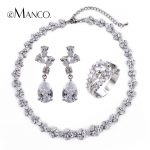 Full drill Cubic zirconia luxury zinc alloy earrings pendant/Can prolong <b>necklaces</b> <b>jewelry</b> set eManco 2016 Wholesale BS00227