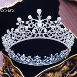 CC big tiaras and crowns round luxury engagement <b>wedding</b> hair accessories for bride queen party bridesmaids <b>jewelry</b> gifts XY248