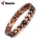 RainSo Men's Copper Magnetic Bracelet Healthy Bio Energy Bracelets & Bangles Top Quality Health <b>Jewelry</b> Red Copper Wristbands
