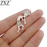 ZXZ 10pcs Antique Silver Tone <b>Native</b> <b>American</b> kokopelli Charms Pendants for Necklace Bracelet <b>Jewelry</b> Making Findings
