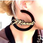 Personal Custom Name Design Moon Style Unique Acrylic Earrings Perfect Gift for Best Friend Love <b>Jewelry</b> for Girls