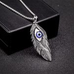 Delicated Unique <b>Antique</b> Silver/Gold Eye Feather Pendant Necklace For Men Halloween Party Gift <b>Jewelry</b> Trendy, Item NO.: Lp1549