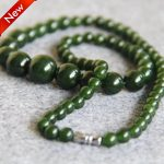 2017 New 6-14mm Natural Green Stone Chalcedony Necklace Gifts Women Girls Gifts Beads Stone 15inch Fashion <b>Jewelry</b> <b>Making</b> Design