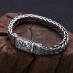 Handcrafted 925 <b>Silver</b> Chain <b>Bracelet</b> Thai <b>Silver</b> Man <b>Bracelet</b> Vintage Sterling Chain <b>Bracelet</b> Punk Jewelry Gift