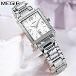 MEGIR Brand Women Watches Luxury Steel <b>Bracelet</b> Quartz Wrist Watch <b>Silver</b> Fashion Ladies Watch Clock Women Reloj Mujer 2018