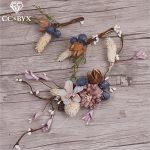 CC <b>Jewelry</b> Hairbands Tiara 3pcs Set Wedding Decorations Hair Stick Romantic <b>Handmade</b> Flower For Women Bridal Hair Accessory 8894