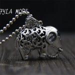 Vintage 925 <b>Silver</b> Hollowed Elephant Design Trendy <b>Bracelet</b> Jewelry Making Pendant Jewelry Accessory 33*37MM 24.10G TYC277