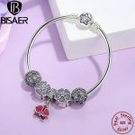100% 925 Sterling <b>Silver</b> Beads Original Charm <b>Bracelet</b> & Bangle with Orchid,Primrose,Cosmic Stars Clip Sterling <b>Silver</b> Jewelry