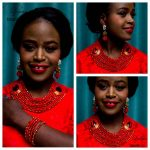 Laanc Brand <b>Handmade</b> African Beads <b>Jewelry</b> Set Red Nigerian Wedding Indian Bridal Bridemaids Necklace Jewellery Sets AL260