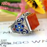 Hot 100% 925 Sterling Silver Ring Blank <b>Jewelry</b> Fit Squre 12*12mm Royal Cloisonne Vintage Ring Base Tray for DIY <b>Handmade</b>
