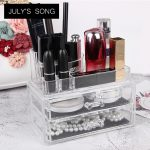 JULY'S SONG <b>Fashion</b> Makeup Organizer Storage Box PS Make Up Organizer Cosmetic Organizer Makeup Storage Drawers Organizer