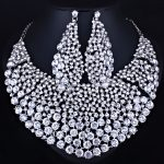 FARLENA <b>Jewelry</b> Full Clear Rhinestones Big Necklace and Earrings for Women Indian Bridal <b>Wedding</b> <b>Jewelry</b> sets