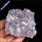 129g Natural Stone Purple Raw Amethysts Druzy Drusy Elestial Skeletal Quartz Crystal Cluster Specimen Fit <b>Jewelry</b> <b>Making</b> KS499
