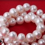 Eternal wedding Women Gift word 925 Sterling <b>silver</b> 8-8.5mm real big Genuine natural freshwater pearl necklace Long