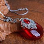 7.2cm Princess 925 Sterling <b>Silver</b> <b>Necklace</b> girls Natural semi-precious stones red Garnet Pendant large maple leaf with chain