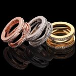 2018 Fashion Style High Quality Factory Price Titanium Steel Hollow Rings For Women and Man Lovers' bulgaria <b>Jewelry</b>