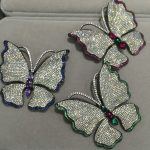Insect Butterfly Brooch Pins 925 <b>Silver</b> with Cubic Zircon Fashion Women <b>Jewelry</b> Free Shipping Green Blue Red U0653