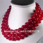 10mm Red Chalcedony Necklace Stone Gift For Girl Women Hand Made DIY Fashion <b>Jewelry</b> <b>Making</b> Design Mother's Day gifts 50″ xu16