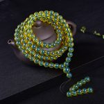 Ambers amberes 108 beads necklace <b>bracelet</b> with gold blue percol when chain Blue Ambers Beads