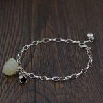 FNJ 925 <b>Silver</b> Lotus <b>Bracelet</b> for Women Jewelry New Fashion Natural Hetian Jade 100% Original S925 Sterling <b>silver</b> <b>Bracelets</b>