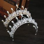 Tiaras Crowns Luxury Pearl Princess Pageant Engagement Wedding Hair Accessories For Bridal <b>Jewelry</b> Shine Rhinestone Headpiece