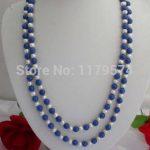Classic women <b>jewelry</b> Long Necklace Hot new fashion style 8mm Lazuli Lapis & white pearl Necklace Fashion <b>Jewelry</b> <b>Making</b> 65″