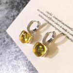 DJMACC 16 Colors Crystal Candy Water droplets style Earrings 3 Gold Color Drop Earring For Women Gift <b>Fashion</b> <b>Jewelry</b>(DJ1159)