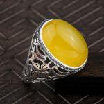Fashion <b>jewelry</b> Women Ambers beeswax Rings Real 925 Sterling Silver Rings <b>Handmade</b> Rings For Women shipping free
