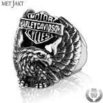 MetJakt Men's Steampunk Biker Ring Solid 925 <b>Sterling</b> <b>Silver</b> & Hand Carved Eagle Ring for Cool Men and Boy Personalized <b>Jewelry</b>