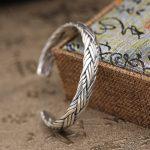39g Pure Solid <b>Sterling</b> <b>Silver</b> 925 Braided Weave Cuff Bangle Bracelet Men Women Simple Brief Style Trendy Mens 925 <b>Jewelry</b> Gifts