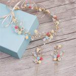 CC&BYX Bridal <b>Jewelry</b> Headbands Colorful Flower Hairband Hair Combs For Women Party <b>Handmade</b> Crown Wedding Hair Accessories 9605