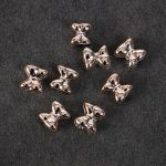 14mm 50pcs/bag ABS with Gold colour Beads Bow Big Hole Beads Headbands <b>Supplies</b> Bowknot DIY Hair <b>Jewelry</b> Making Accessories
