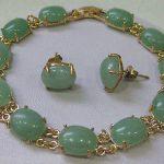 Prett Lovely Women's Wedding Jewellery green gem bracelet earring sets >AAA GP Bridal wide watch wings queen JE mujer moda