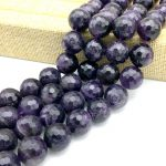 Good Quality Stone Loose Bead Purple Color Crystal Round Loose Faceted 16 mm Ball DIY <b>Jewelry</b> Making <b>Supplies</b>