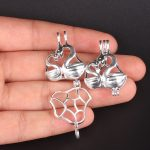 10pcs Silver Swan Pearl Cage <b>Jewelry</b> Making <b>Supplies</b> Colorful Bead Cage Pendant Essential Oil Diffuser For Pearl Jewellry