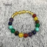 Yoowei Wholesale Amber Bracelet/Necklace for Adult 8mm Natural Amethyst Agate Gemstone Customized Baltic Amber <b>Jewelry</b> <b>Supplies</b>