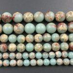 Natural blue green sea sediment jaspe r beads,<b>jewelry</b> making beads Imperial Jaspe r bead <b>supplies</b> 4mm 6mm 8mm 10mm 12mm 3strand
