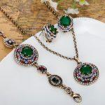 Turkish <b>Necklace</b> Earrings Bracelets <b>Jewelry</b> Sets Colar Feminino Resin Vintage Indians Jewellery Set Couro Neclace Earring Sets